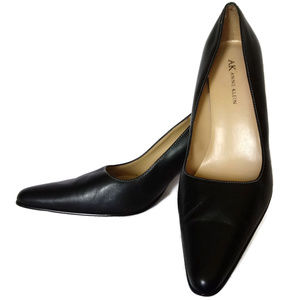 Anne Klein Black Leather High Heel Pumps
